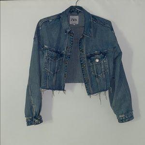 Zara Women's Cropped Denim Jacket Sm